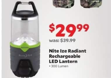 Academy Sports + Outdoors Black Friday: Nite Ize Radiant Rechargeable LED Lantern for $29.99