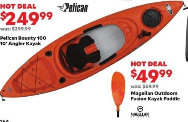 Academy Sports + Outdoors Black Friday: Pelican Bounty 100 10' Angler Kayak for $249.99