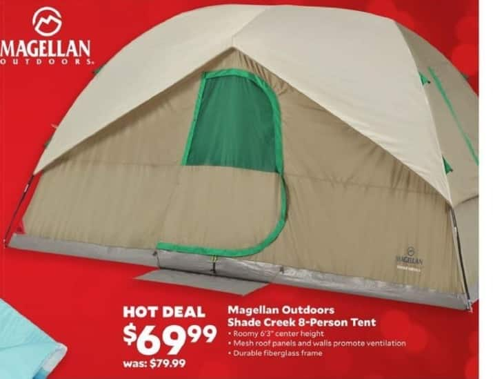 Academy Sports + Outdoors Black Friday: Magellan Outdoor Shade Creek 8-Person Tent for $69.99