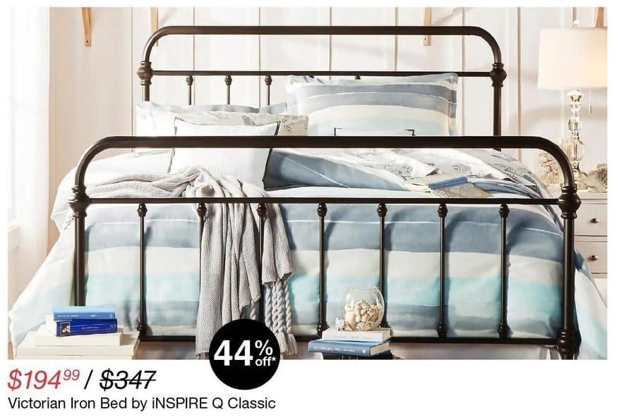 Overstock Black Friday: Inspire Q Classic Victorian Iron Bed for $194.99