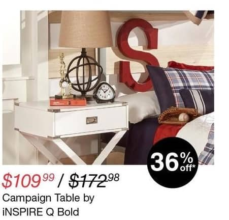 Overstock Black Friday: Inspire Q Bold Campaign Table for $109.99