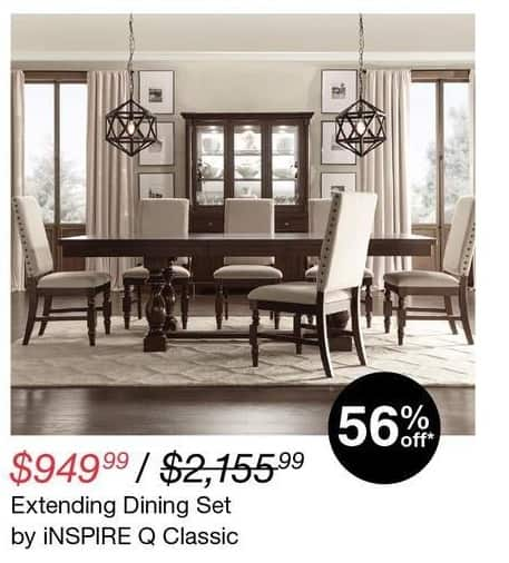 Overstock Black Friday: iNspire Q Classic Extending Dining Set for $949.99