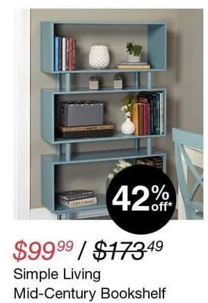 Overstock Black Friday: Simple Living Mid-Century Bookshelf for $99.99