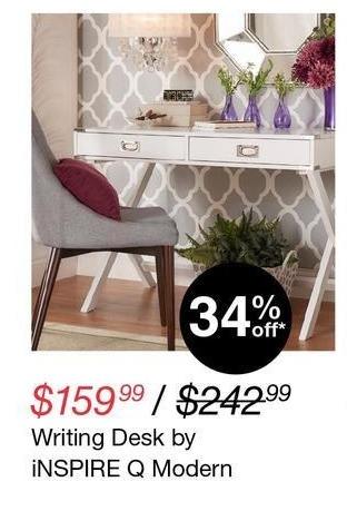 Overstock Black Friday: iNspire Q Modern Writing Desk for $159.99