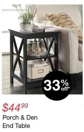 Overstock Black Friday: Porch & Den End Table for $44.99