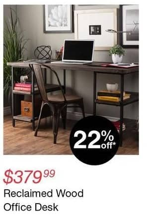 Overstock Black Friday: Reclaimed Wood Office Desk for $379.99