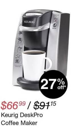 Overstock Black Friday: Keurig DeskPro Coffee Maker for $66.99