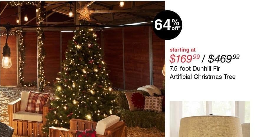 overstock black friday dunhill fir 75 artificial christmas tree 16999