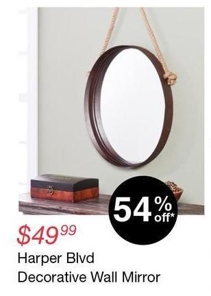 Overstock Black Friday: Harper Blvd Decorative Wall Mirror for $49.99