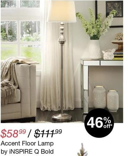 Overstock Black Friday: Inspire Q Bold Accent Floor Lamp for $58.99