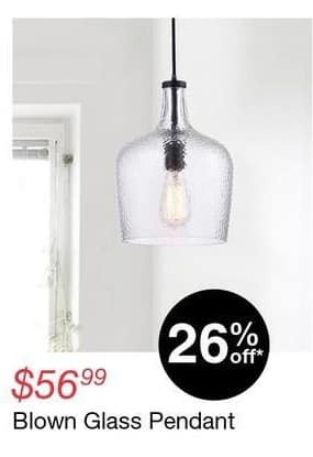 Overstock Black Friday: Blown Glass Pendant for $56.99