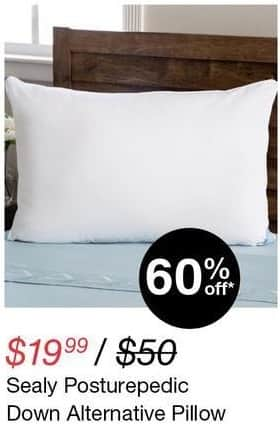 Overstock Black Friday: Sealy Posturepedic Down Alternative Pillow for $19.99