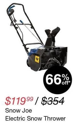 Overstock Black Friday: Snow Joe Electric Snow Thrower for $119.99