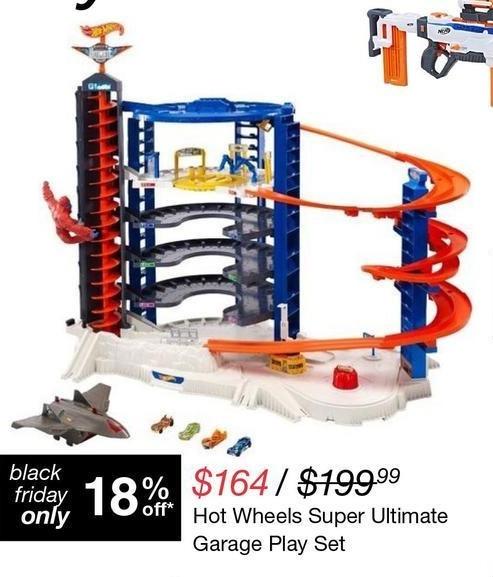 Overstock Black Friday: Hot Wheels Super Ultimate Garage Play Set for $164.00