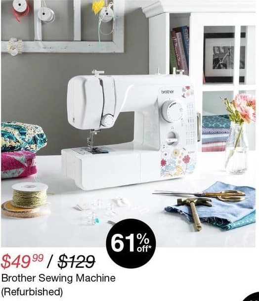 Overstock Black Friday Brother Sewing Machine Refurb For 49 99