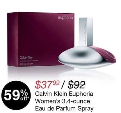 Overstock Black Friday: Calvin Klein Euphoria Women's 3.4-oz. Eau de Parfum Spray for $37.99