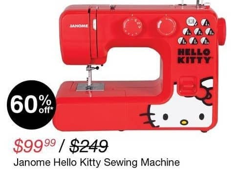 Overstock Black Friday: Janome Hello Kitty Sewing Machine for $99.99
