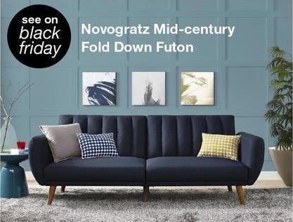 Overstock Black Friday: Novogratz Mid-Century Fold Down Futon - TBA