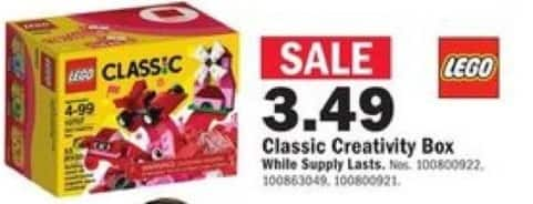 Mills Fleet Farm Black Friday: Lego Classic Red Creativity Box for $3.49