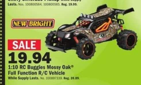 Mills Fleet Farm Black Friday: New Bright 1:10 Scale R/C Mossy Oak Truck for $19.94