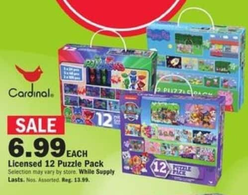 Mills Fleet Farm Black Friday: Cardinal Licensed 12 Puzzle Pack for $6.99