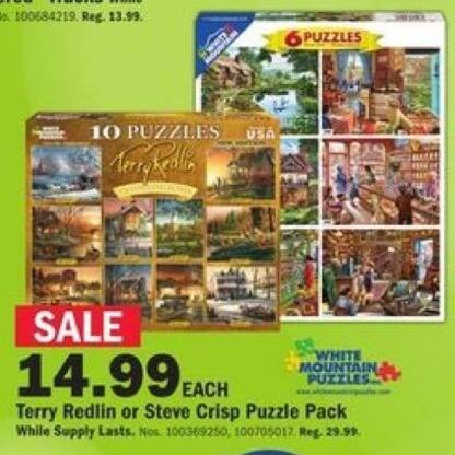 Mills Fleet Farm Black Friday: White Mountain Puzzles Terry Redlin or Steve Crisp for $14.99