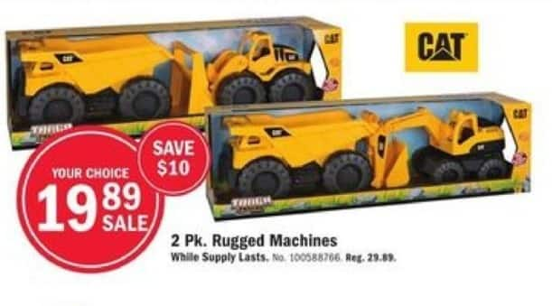 Mills Fleet Farm Black Friday: CAT 2-pk Rugged Machines for $19.89