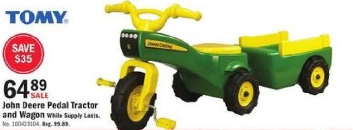 Mills Fleet Farm Black Friday: TOMY John Deere Pedal Tractor & Wagon for $64.89