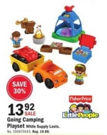 Mills Fleet Farm Black Friday: Little People Going Camping Playset for $13.92