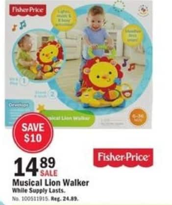 Mills Fleet Farm Black Friday: Musical Lion Walker for $14.89