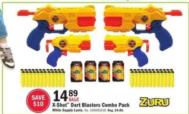 Mills Fleet Farm Black Friday: Zuru X-Shot Dart Blasters Combo Pack for $14.89