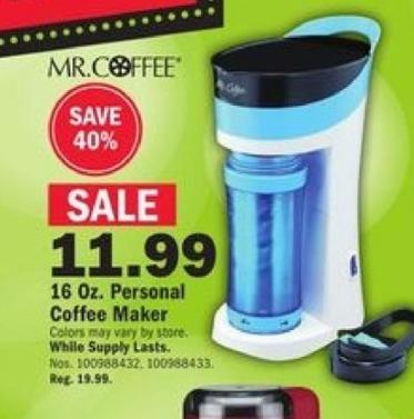 Mills Fleet Farm Black Friday: Mr. Coffee 16-oz Personal Coffee Maker for $11.99