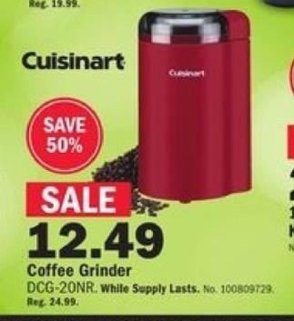Mills Fleet Farm Black Friday: Cuisinart Coffee Grinder for $12.49