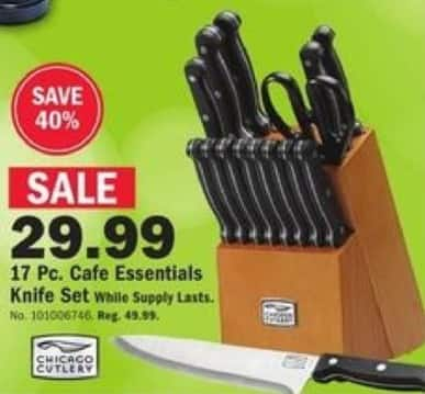 Mills Fleet Farm Black Friday: Chicago Cutlery 17-pc Cafe Essentials Knife Set for $29.99