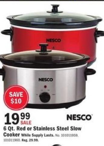 Mills Fleet Farm Black Friday: Nesco 6-qt Slow Cooker for $19.99