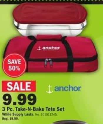 Mills Fleet Farm Black Friday: Anchor 3-pc. Take-N-Bake Tote Set for $9.99