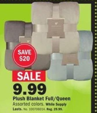 Mills Fleet Farm Black Friday: Northpoint Plush Full/Queen Blanket for $9.99