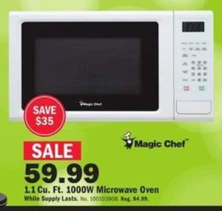 Mills Fleet Farm Black Friday: Magic Chef 1.1-cu. ft. 1000W Microwave Oven for $59.99