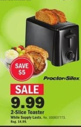 Mills Fleet Farm Black Friday: Proctor Silex 2-Slice Toaster for $9.99