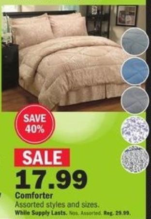 Mills Fleet Farm Black Friday: Assorted Comforters for $17.99