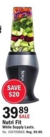 Mills Fleet Farm Black Friday: Nutri Fit Blender for $39.89