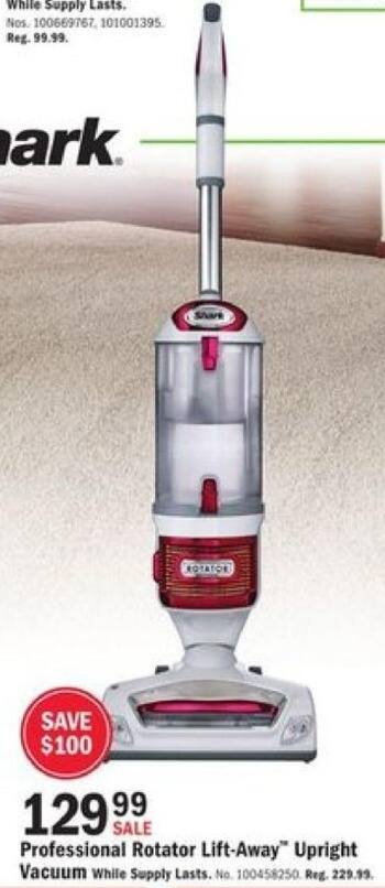 Mills Fleet Farm Black Friday: Shark Rotator Elite Professional Lift-Away Vacuum for $129.99