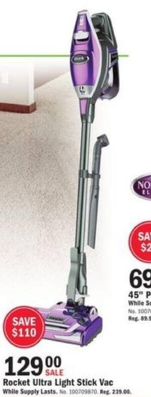 Mills Fleet Farm Black Friday: Shark Rocket Deluxe Pro Ultra Light Stick Vacuum for $129.00