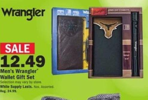 Mills Fleet Farm Black Friday: Wrangler Men's Wallet Gift Set for $12.49