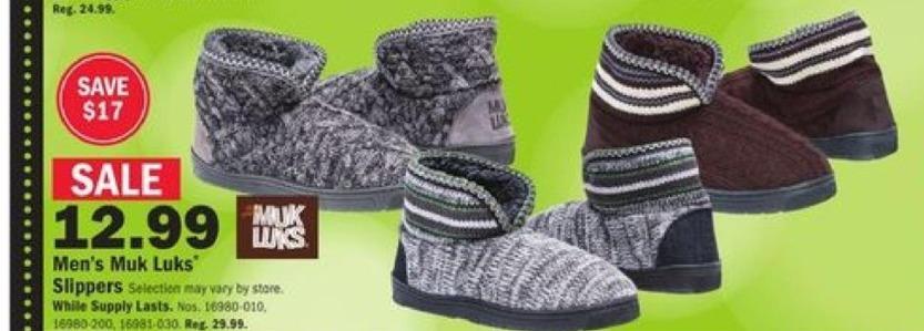 Mills Fleet Farm Black Friday: Muk Luks Slippers for Men for $12.99