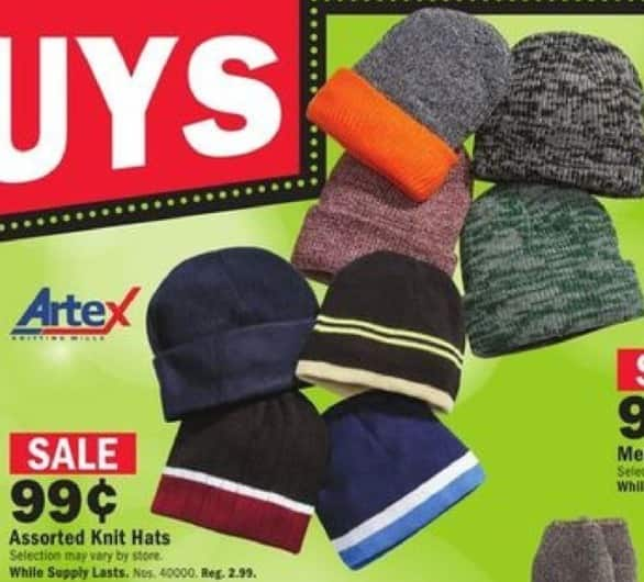 Mills Fleet Farm Black Friday: Artex Knit Hats for $0.99