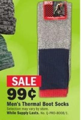 Mills Fleet Farm Black Friday: Thermal Boot Socks for Men for $0.99