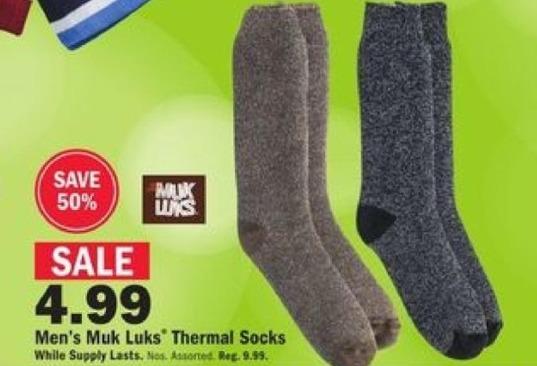 Mills Fleet Farm Black Friday: Muk Luks Thermal Socks for Men for $4.99