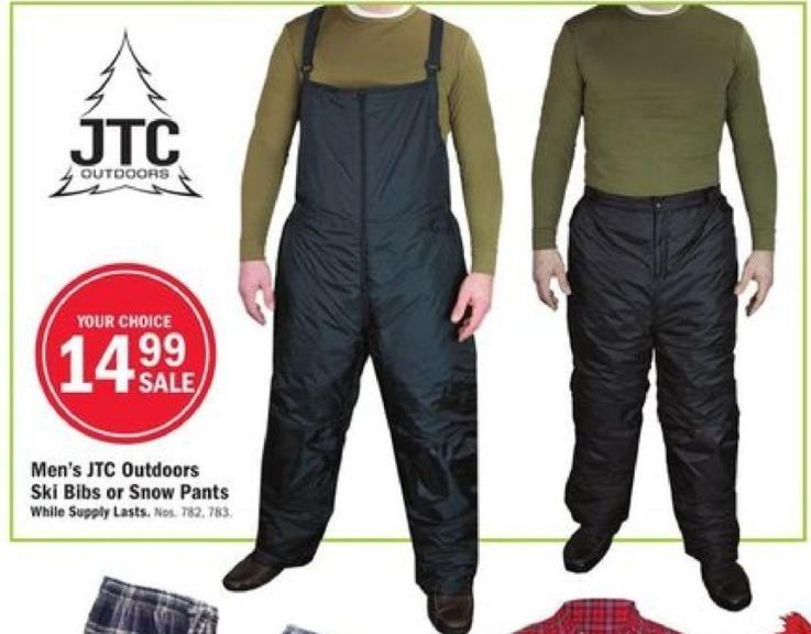 Mills Fleet Farm Black Friday: JTC Outdoors Ski Bibs or Snow Pants for Men for $14.99
