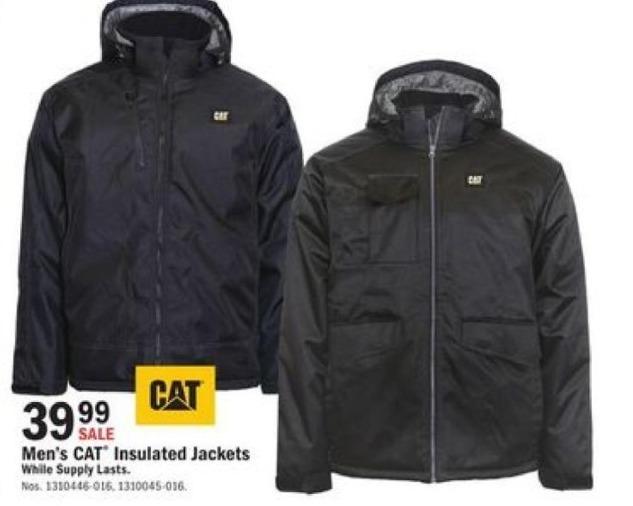 Mills Fleet Farm Black Friday: CAT Insulated Jackets for $39.99